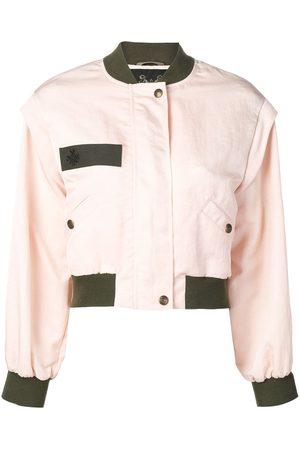 Mr & Mrs Italy Contrast trim bomber jacket