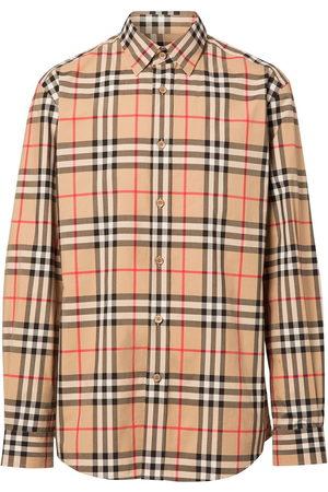 Burberry Men Shirts - Vintage Check cotton poplin shirt