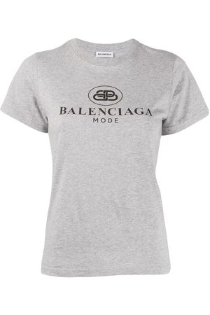 Balenciaga Short-sleeve fitted T-shirt - Grey
