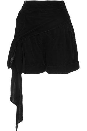 HELLESSY Bow detail velour shorts