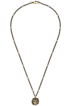 Gucci Lion head pendant necklace - Metallic