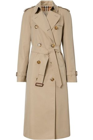 Burberry Cotton Gabardine Trench Coat - Neutrals
