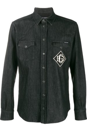 Dolce & Gabbana Embroidered logo denim shirt