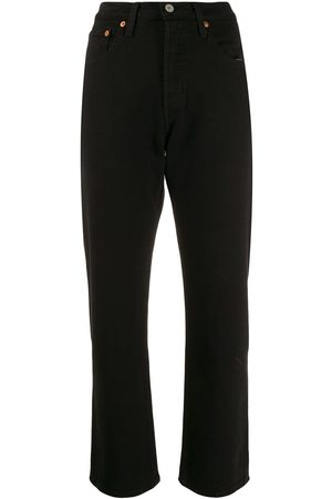 adidas Cropped straight-leg jeans