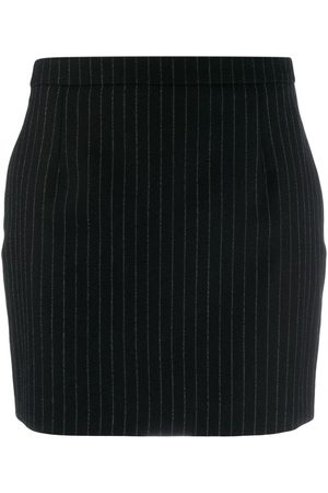 Saint Laurent Women Mini Skirts - Pinstriped mini skirt