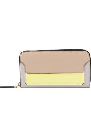 Marni Women Wallets - Saffiano zip around wallet - Grey