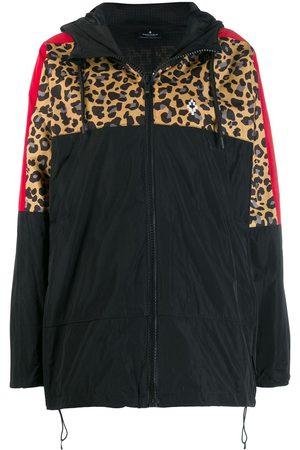 MARCELO BURLON Women Jackets - Contrast panel hooded windbreaker jacket