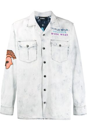 U.P.W.W. Embroidered patch denim shirt