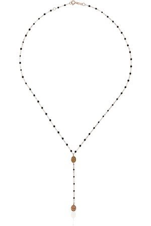 GIGI CLOZEAU 18kt rose gold Classic Gigi Madone beaded rosary necklace