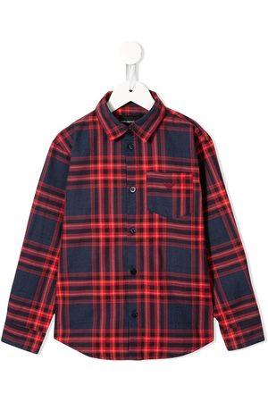 Emporio Armani Kids Check print shirt