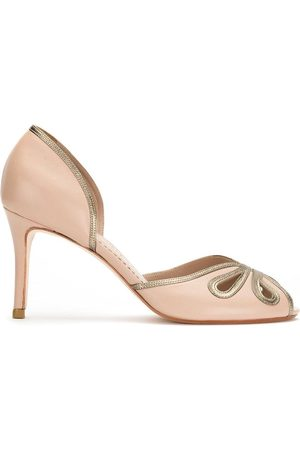 Sarah Chofakian Peep toe pumps - Neutrals