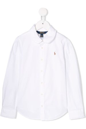 Ralph Lauren Girls Shirts - Ruffled collar shirt