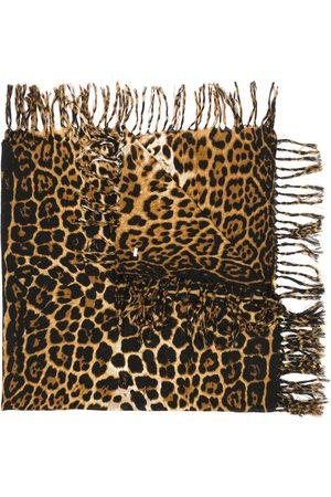 Saint Laurent Women Scarves - Leopard print scarf