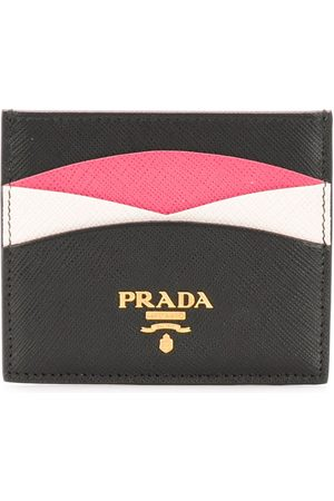 Prada Logo-plaque panelled cardholder