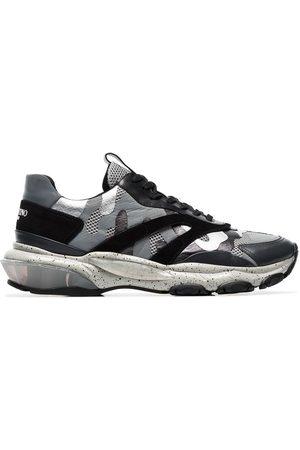 VALENTINO GARAVANI Men Sneakers - Grey Bounce camo print leather sneakers