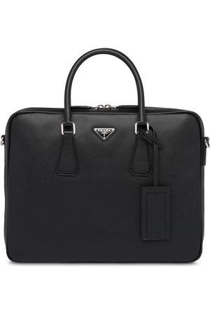 Prada Men Laptop Bags - Saffiano leather briefcase