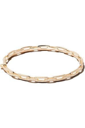David Yurman 18kt yellow gold Stax diamond chain link bracelet - 88ADI