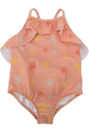 KNOT Girls Swimsuits - Batik flower swimsuit
