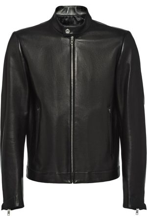 Prada Men Leather Jackets - Nappa leather biker jacket