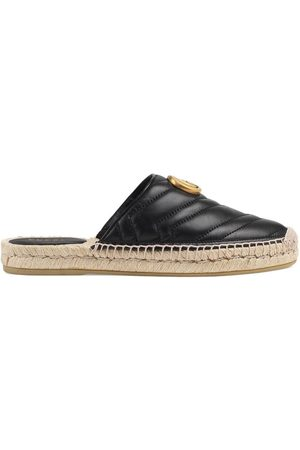 Gucci Women Espadrilles - Leather espadrille with Double G