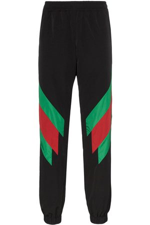 Gucci Men Sweatpants - Web stripe sweat pants