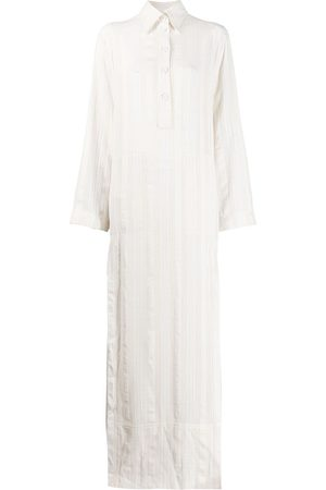 Serafini Maxi shirt dress - NEUTRALS