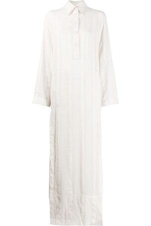 Serafini Women Casual Dresses - Maxi shirt dress - Neutrals