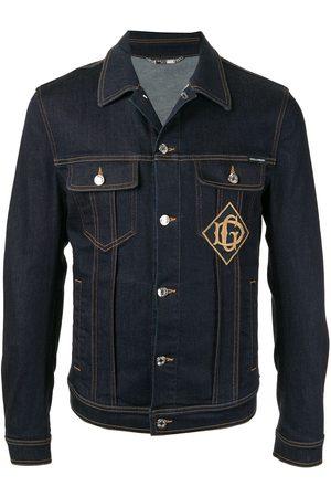 Dolce & Gabbana Men Denim Jackets - Logo patch denim jacket