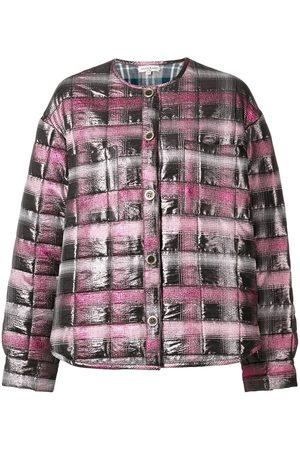 Natasha Zinko Women Puffer Jackets - Jacquard padded shirt jacket