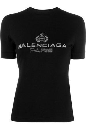 Balenciaga Women T-shirts - Logo emblem printed T-shirt