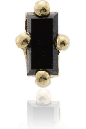 Lizzie Mandler 14k yellow gold diamond mini stud earring