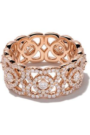 De Beers Jewellers 18kt rose Enchanted Lotus diamond band
