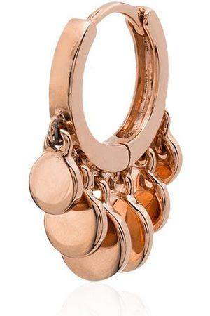 JACQUIE AICHE 14kt rose mini Disco Shaker hoop earring