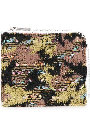 Coohem Knit tweed camouflage wallet