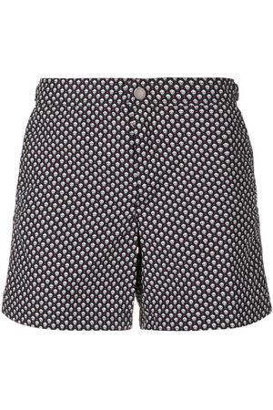 Alexander McQueen Men Swim Shorts - Skull print swim shorts