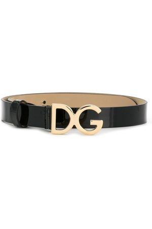 Dolce & Gabbana DG-buckle patent leather belt