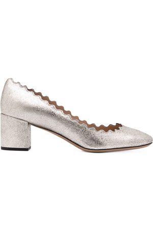 Chloé Scalloped ballerina pumps