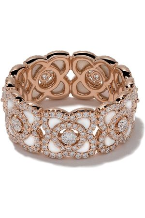 De Beers Jewellers Women Rings - 18kt rose Enchanted Lotus Mother-of-Pearl and diamond band