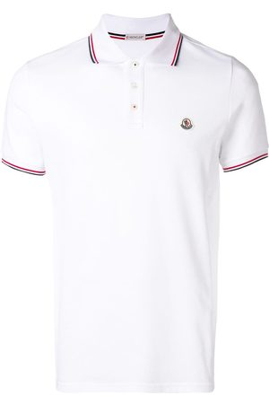 Moncler Striped trim polo shirt