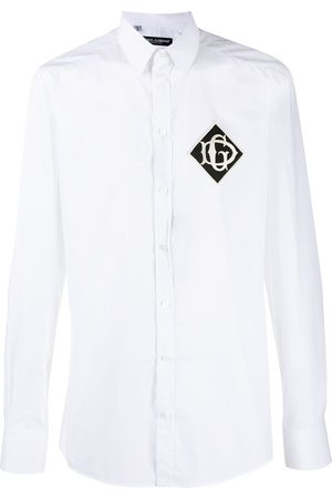 Dolce & Gabbana Men Shirts - Embroidered logo patch shirt