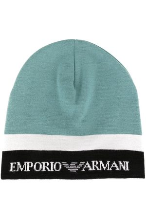 Emporio Armani Beanies - Colour block knit beanie