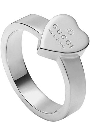 Gucci Women Rings - Heart ring with trademark