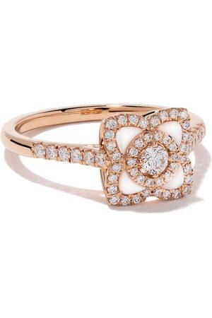 De Beers Jewellers Women Rings - 18kt rose Enchanted Lotus mother-of-pearl and diamond ring