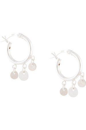 Petite Grand Women Earrings - Moon hoop earrings