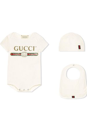 Gucci Bodysuits & All-In-Ones - Logo printed babygrow set
