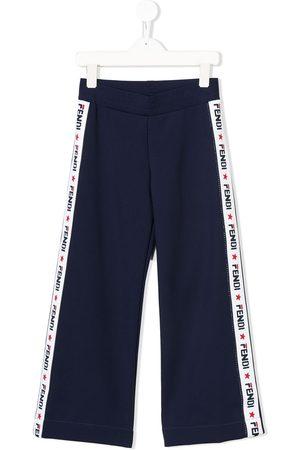Fendi Boys Sweatpants - Logo band track pants