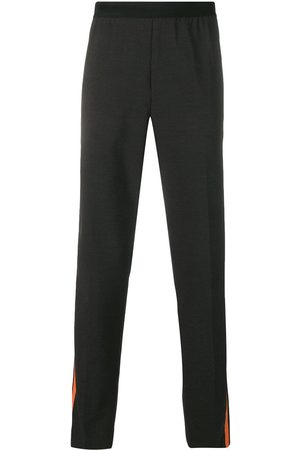 Helmut Lang Side stripe trousers - XW6 CHARCOAL/SIGNAL