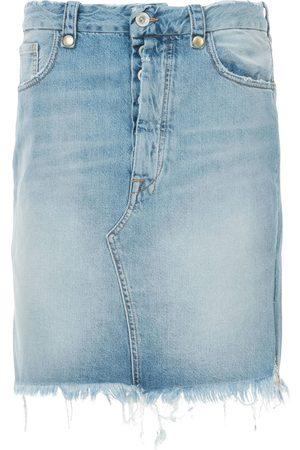 Unravel Project Frayed denim skirt
