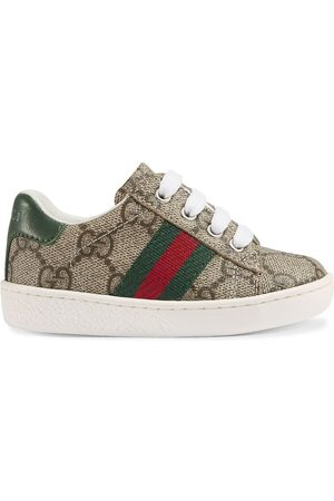 Gucci Toddler GG Supreme low-top sneakers with Web - NEUTRALS