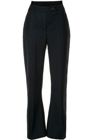 EUDON CHOI Women Wide Leg Pants - High rise flared trousers